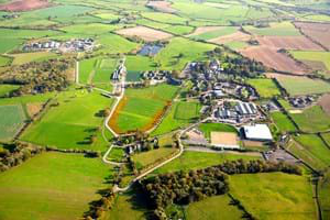 aerial view of Hartpury's world class facilities