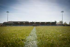 Rugby pitch at Hartpury