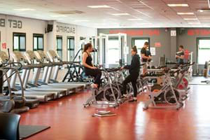 students training in the hartpury gym